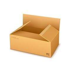 Cardboard packaging box vector