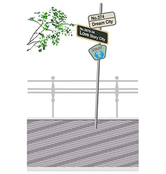 Street sign post vector