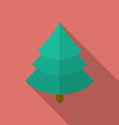 Icon of christmas tree flat style vector