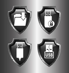 Data center icons vector