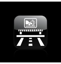 Crash car icon vector