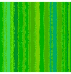 Striped pattern with brushed lines in green vector
