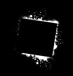 Grunge frame black vector