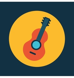 Guitar design vector