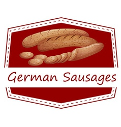 German sausages vector