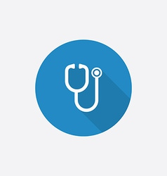 Medical flat blue simple icon with long shadow vector