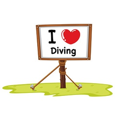 Diving vector