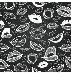Chalkboard seamless hot lips vector