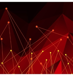 Background with red polygonal abstract shapes vector