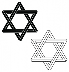 Jewish star of david vector
