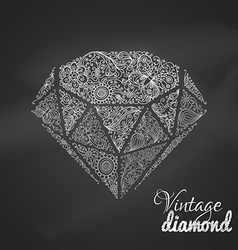 Chalk vintage diamond vector