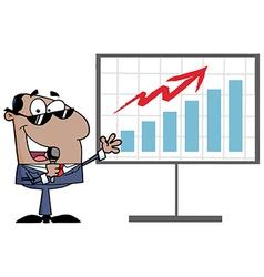 Businessman presentation cartoon vector