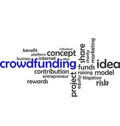 Word cloud crowdfunding vector