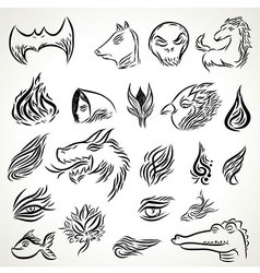 Black ink tattoo vector