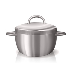 Metal pan vector