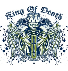 King of death skull vector