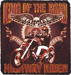 Highway rider king of the road vector