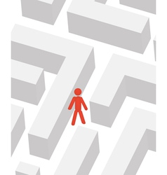 Man in labyrinth vector