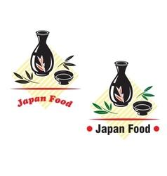 Japan food cuisine vector