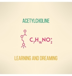 Learning and dreaming chemistry concept vector