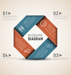 Abstract shape with infographic vector