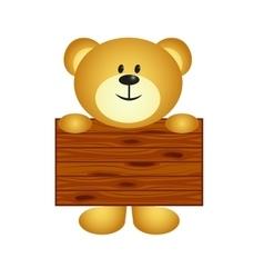 Bear with board vector