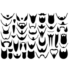 Set of different beards vector