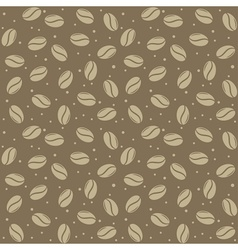 Seamless coffee seed texture vector