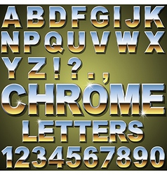 Chrome letters vector