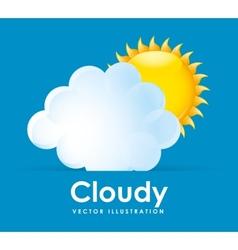 Cloudy design vector