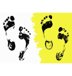 Black foot imprints vector
