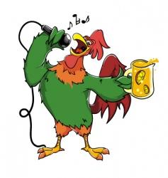 Karaoke rooster vector