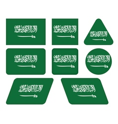 Buttons with flag of saudi arabia vector
