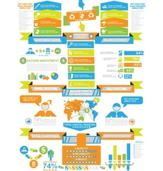 Infographic demographics business toy vector