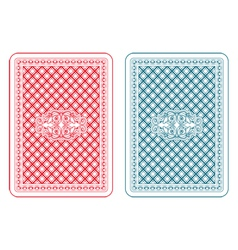 Playing cards back zeta vector