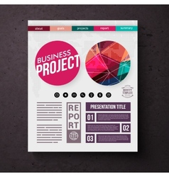 Business project title page template vector