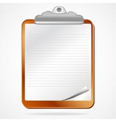 Clipboard notepaper vector