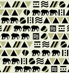 Seamless pattern with animal and geometric shapes vector