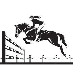 Jockey ride horse vector