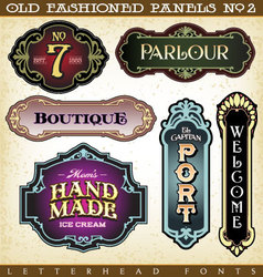 Old fashioned panels vintage labels 2 vector