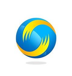 Globe circular swirl business logo vector