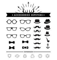 Hipster style and accessories icon set vector