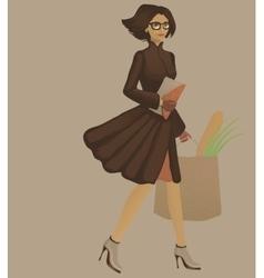 Walking woman vector