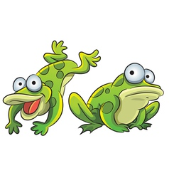 Funny frog vector