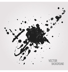 Grunge background with black splash vector