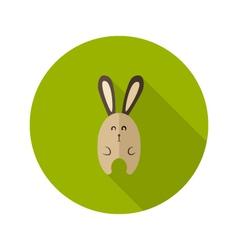 Bunny flat icon over green vector