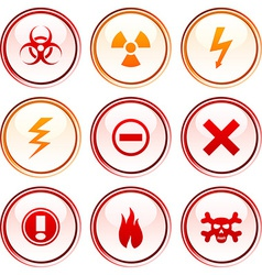 Warning buttons vector
