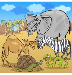 African safari animals cartoon vector