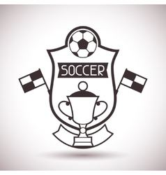 Sports label with soccer symbols vector