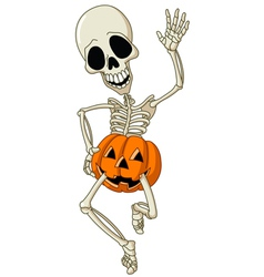 Happy skeleton vector